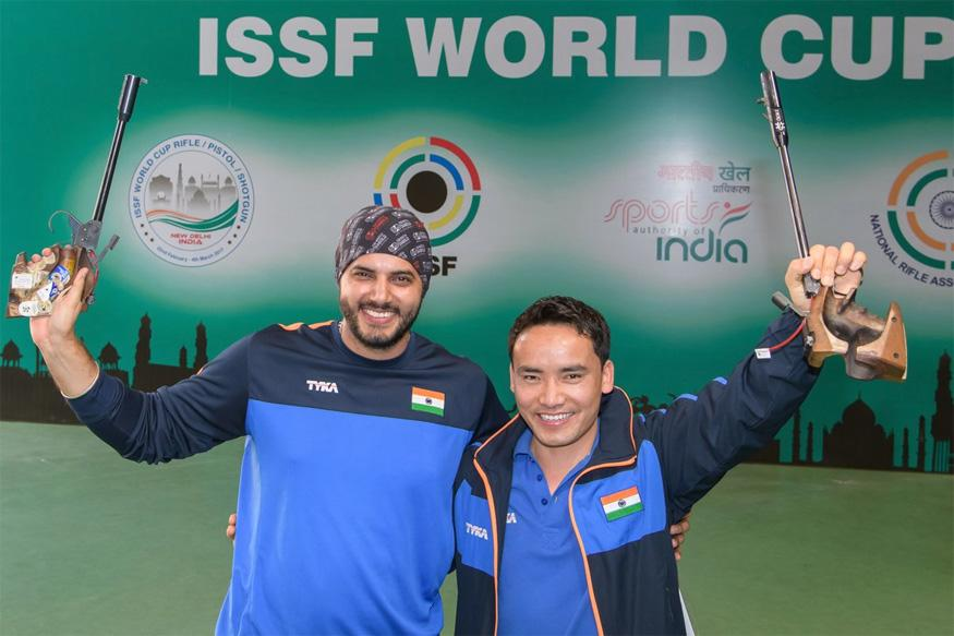 Jitu wins gold, Amanpreet silver in 50m air pistol