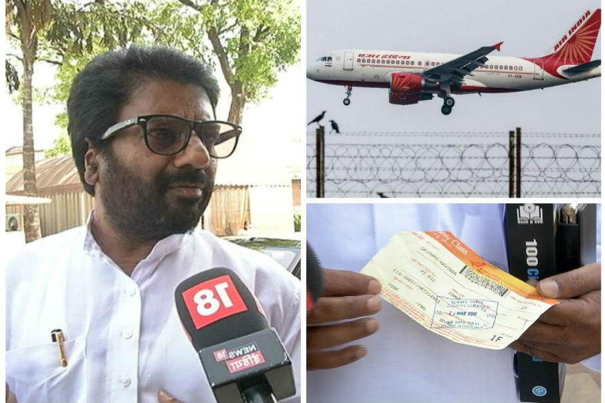 Barred by airlines, Sena MP takes train to Mumbai