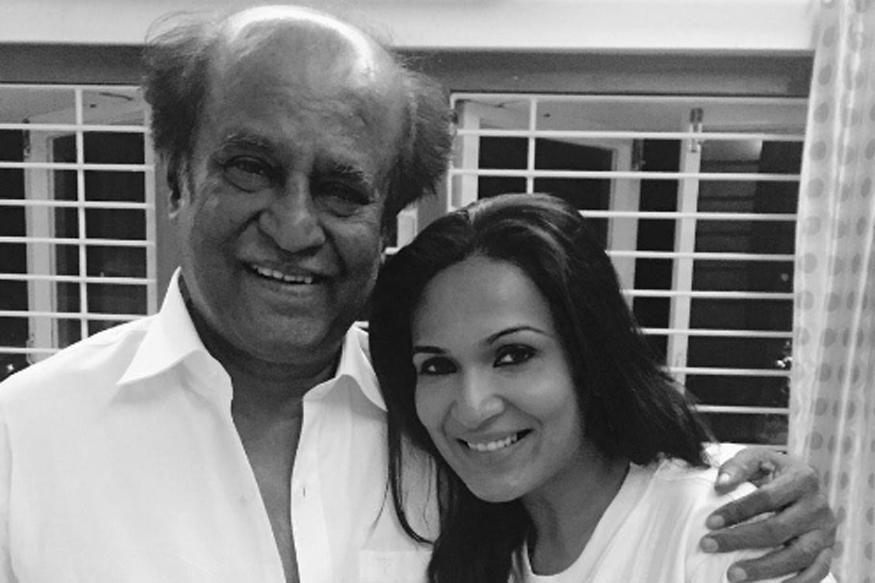 Dhanush comes to Rajini's daughter Soundarya's help after an accident