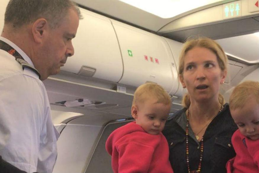 American Airlines passenger says flight attendant almost hit baby