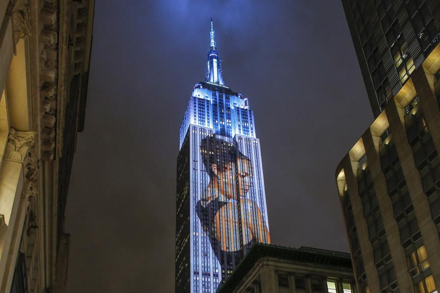 Harper's Bazaar Fashion icons light up NY's Empire State Building
