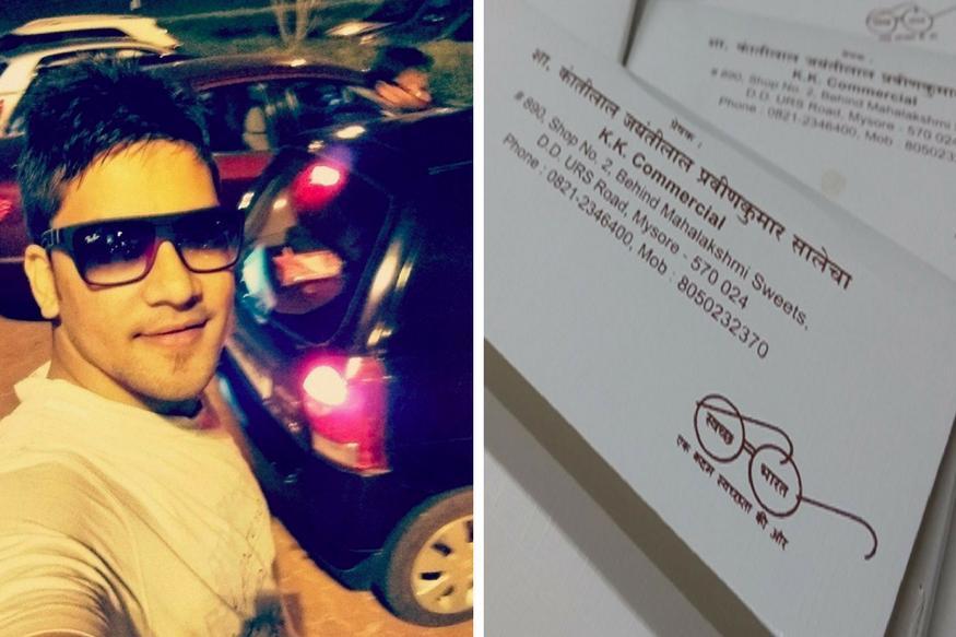Man Borrows Swachh Bharat Logo For Wedding Card, PM Modi Retweets it