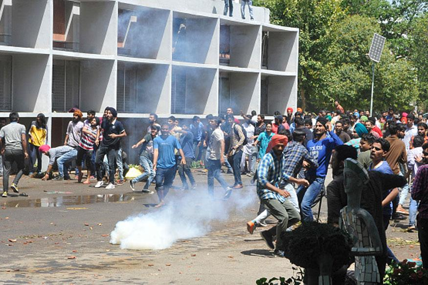 52 students held as protest at Panjab University campus turns violent